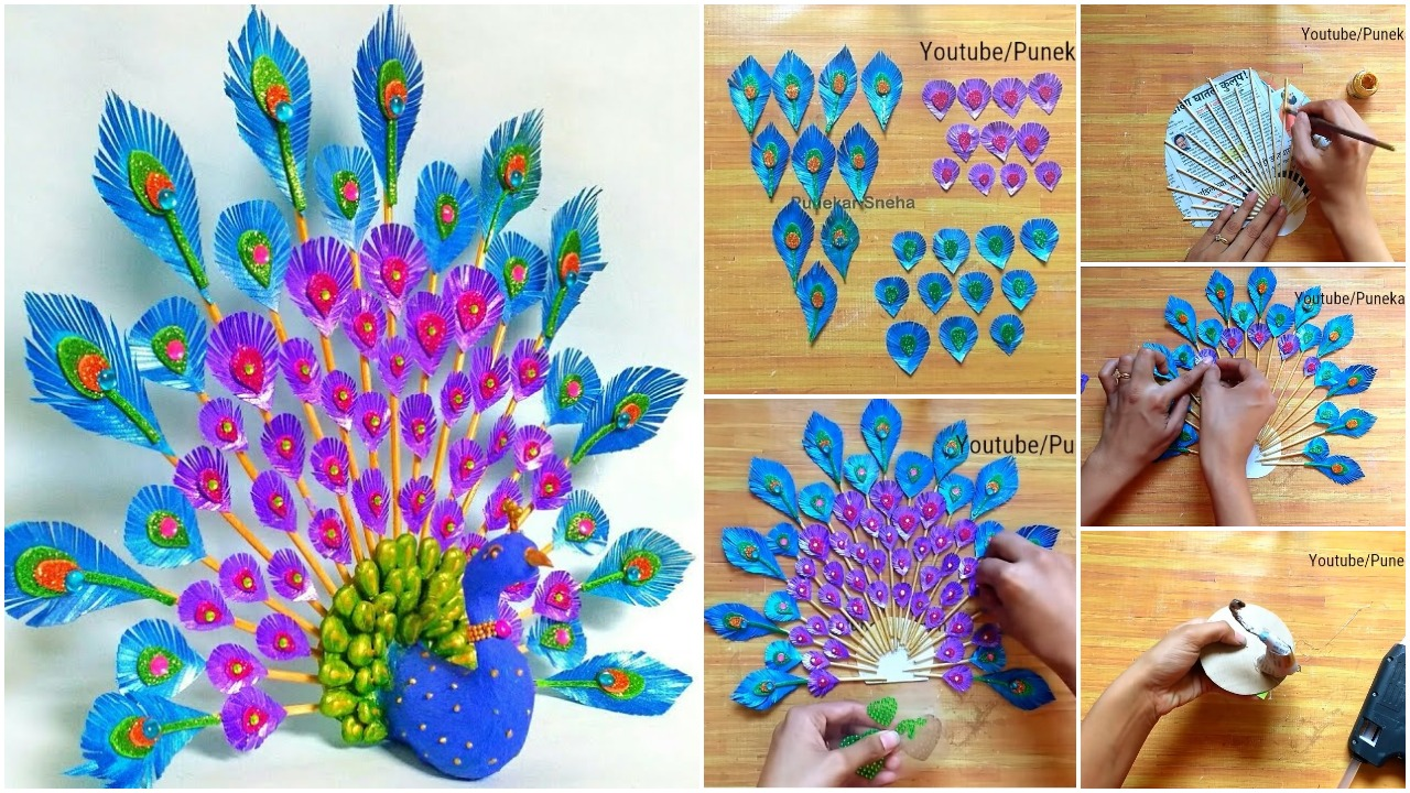 3D Peacock Wall Hanging