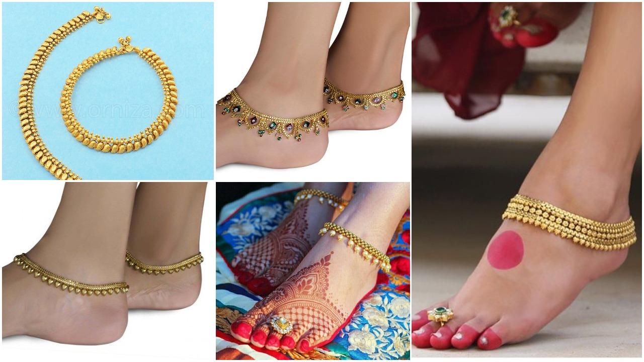 Bridal Gold Anklet Designs