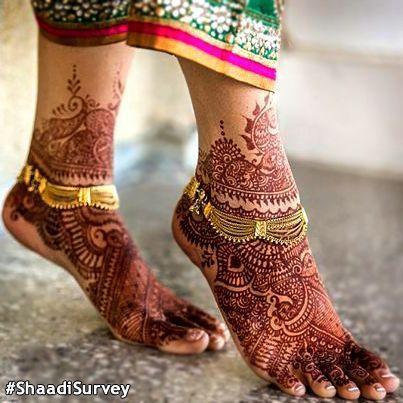 Bridal Gold Anklet Designs11