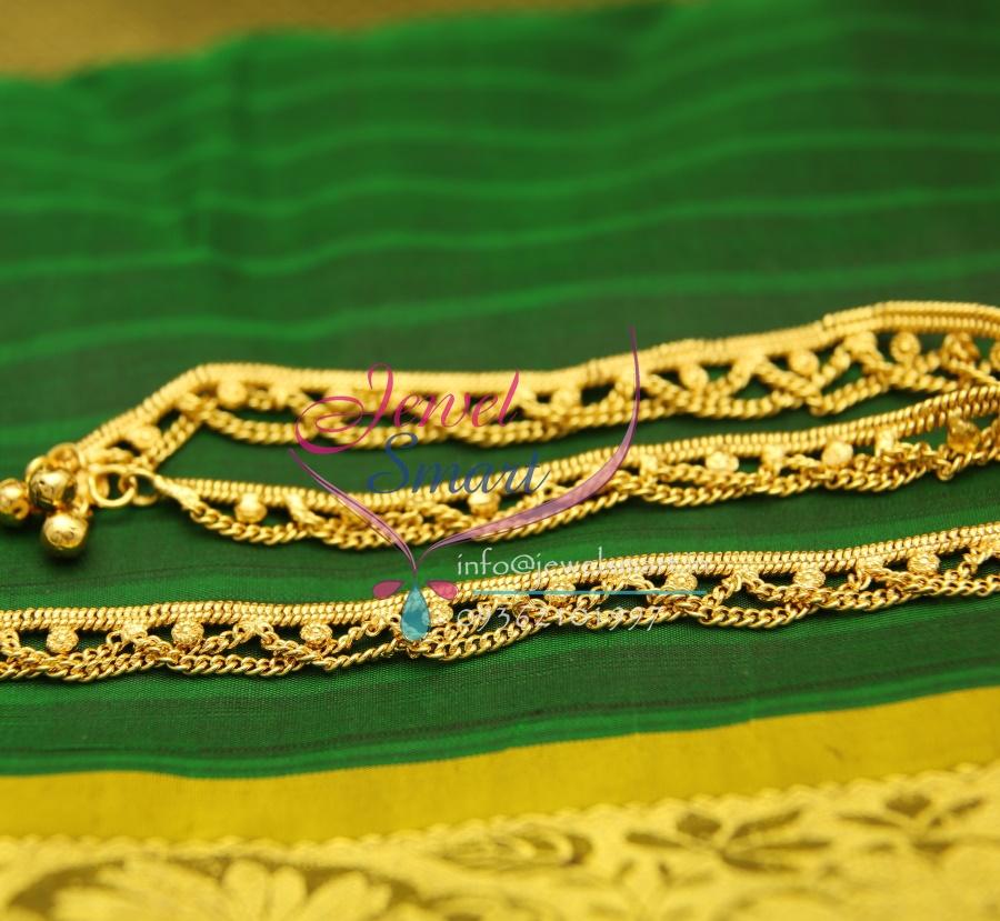 Bridal Gold Anklet Designs14