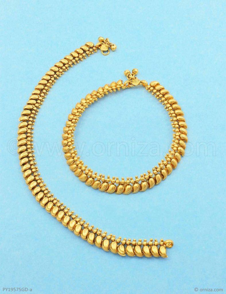 Bridal Gold Anklet Designs15