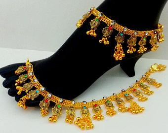 Bridal Gold Anklet Designs17