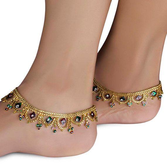 Bridal Gold Anklet Designs2