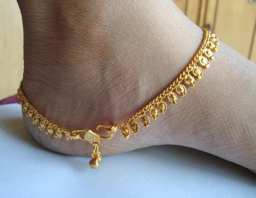 Bridal Gold Anklet Designs3