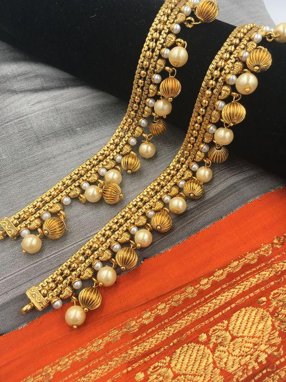 Bridal Gold Anklet Designs4