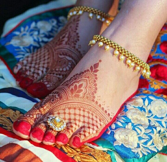 Bridal Gold Anklet Designs6