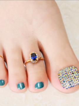 Designer Gold Plated and Silver Toe Rings10