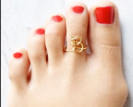 Designer Gold Plated and Silver Toe Rings19