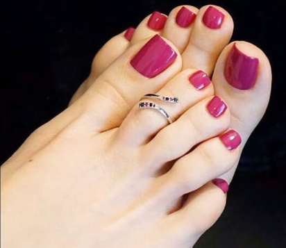 Designer Gold Plated and Silver Toe Rings4