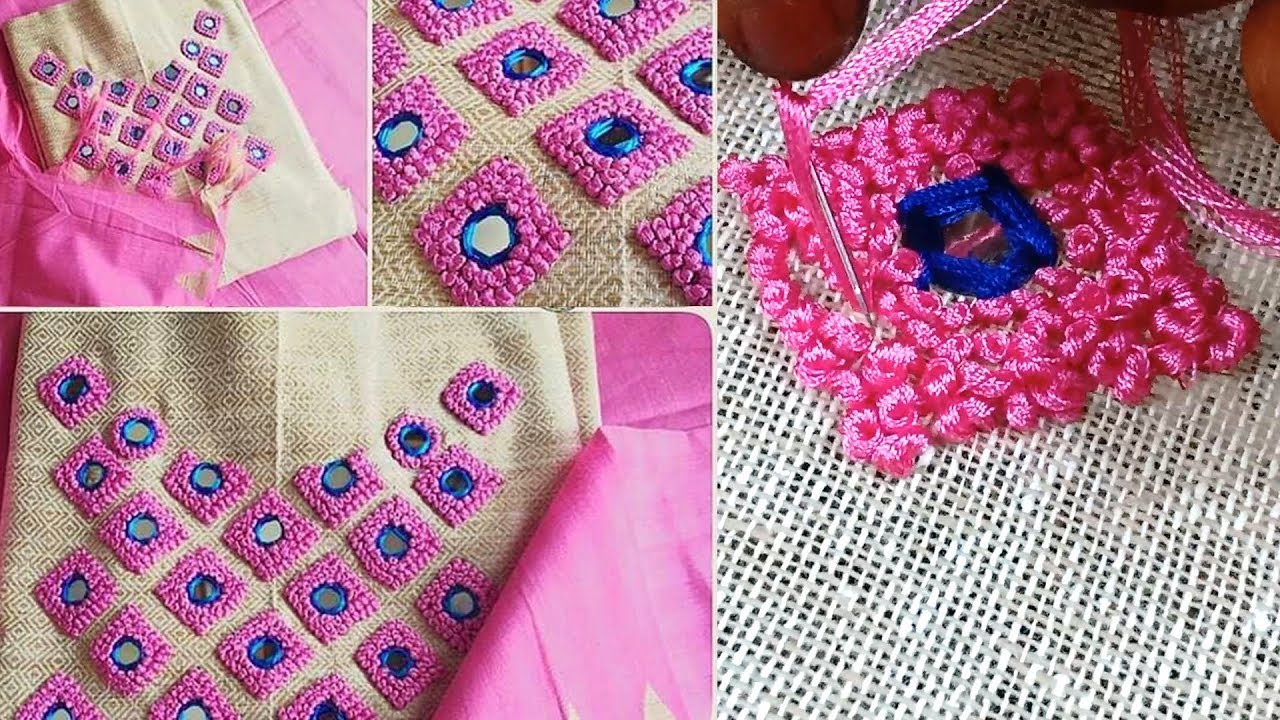 Embroidery Designs on Kurti-French Knot10