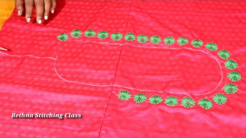 Hand Embroidery Neck Design for Silk Saree Blouse11