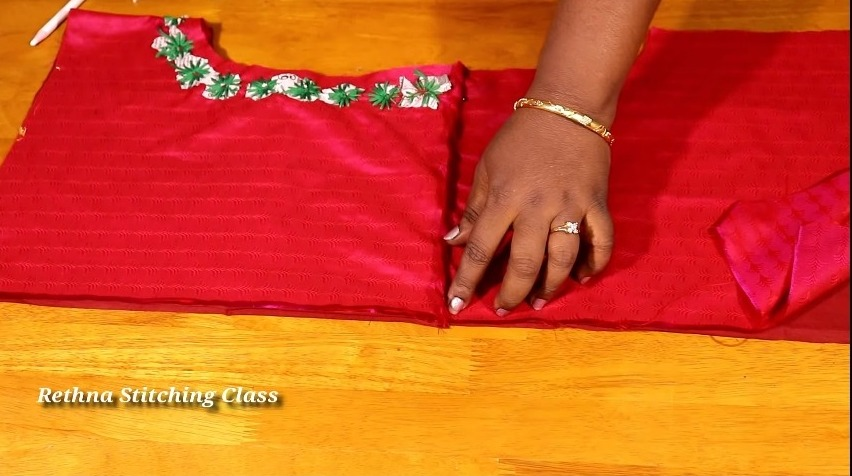 Hand Embroidery Neck Design for Silk Saree Blouse12