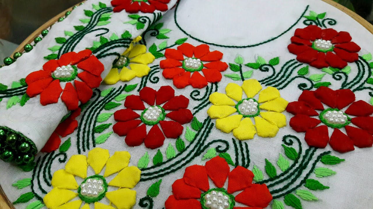 Hand Embroidery Style Stitch for Kurthi1