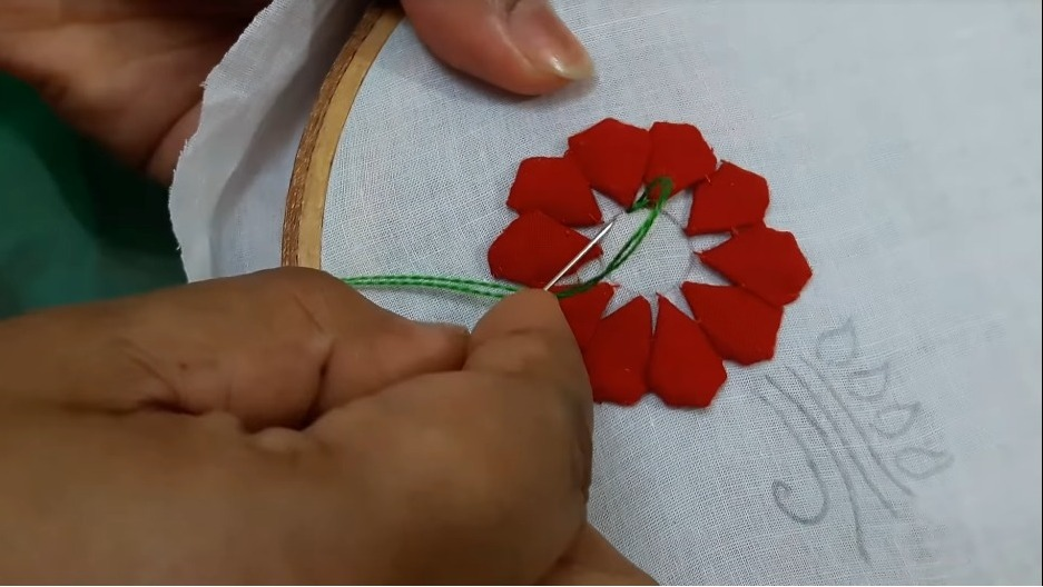 Hand Embroidery Style Stitch for Kurthi13