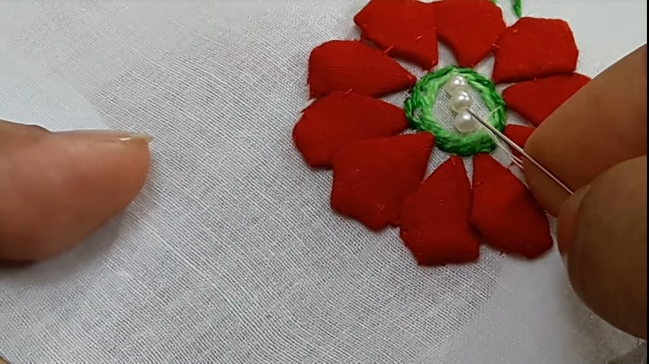 Hand Embroidery Style Stitch for Kurthi14