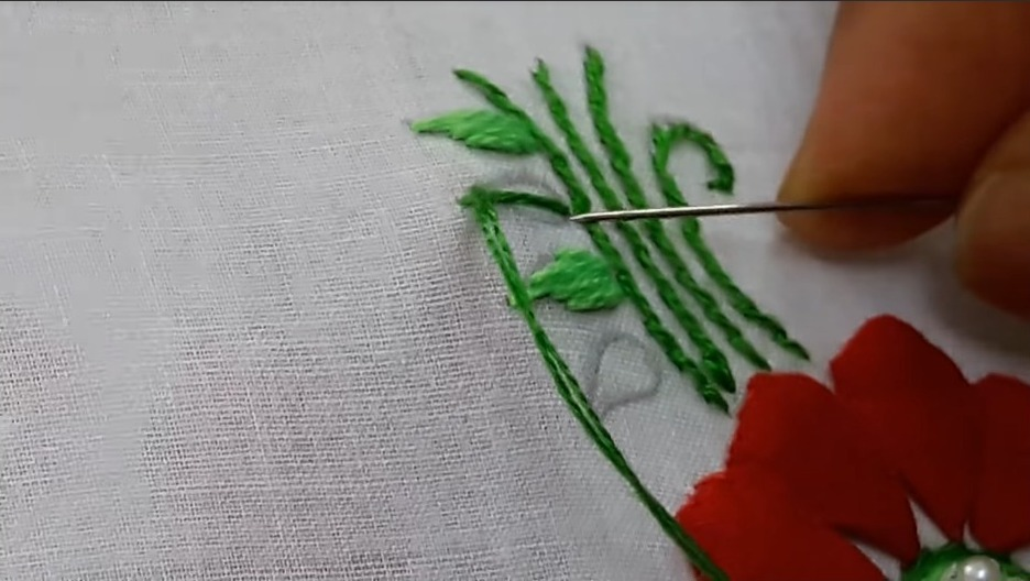 Hand Embroidery Style Stitch for Kurthi15
