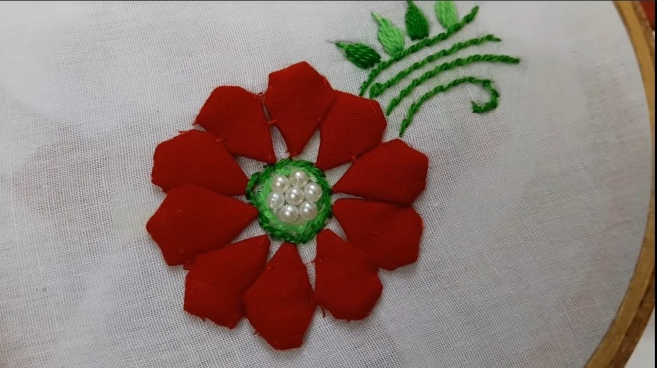 Hand Embroidery Style Stitch for Kurthi16