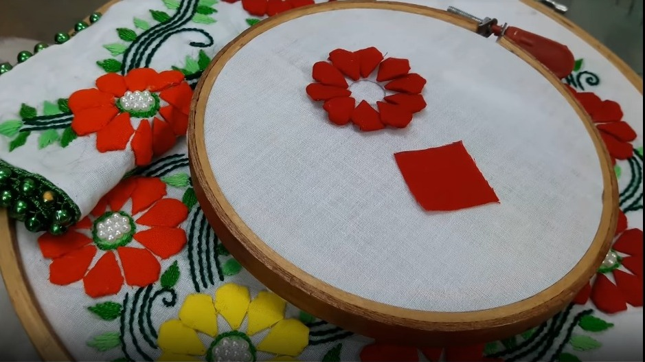 Hand Embroidery Style Stitch for Kurthi2