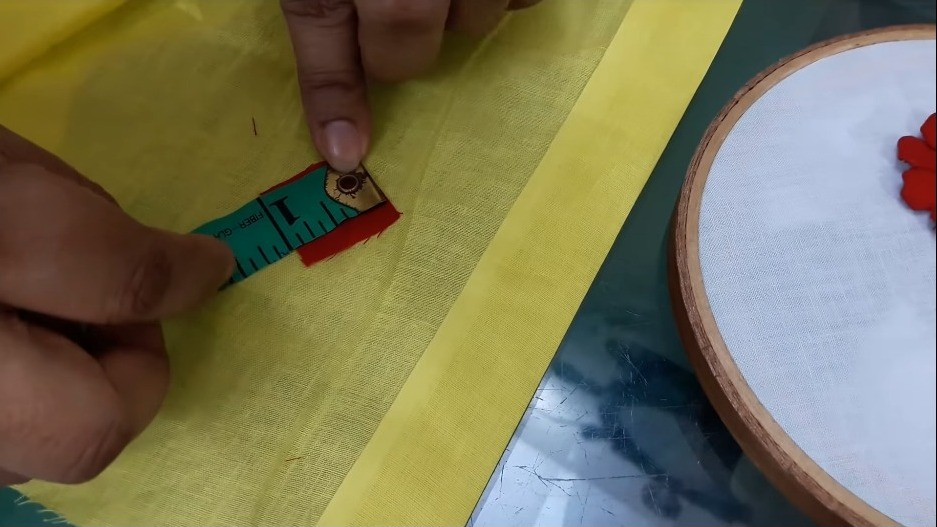 Hand Embroidery Style Stitch for Kurthi3