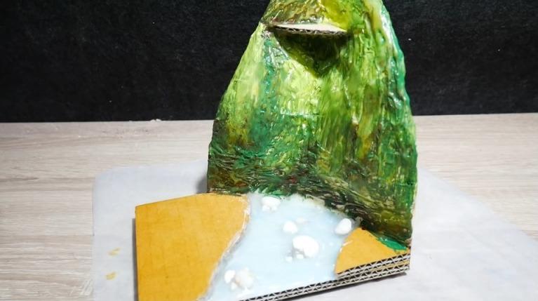 Hot Glue Waterfall Mini House10