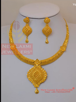Light Weight Gold Necklace for Women Under 10 Grams14