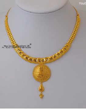Light Weight Gold Necklace for Women Under 10 Grams2