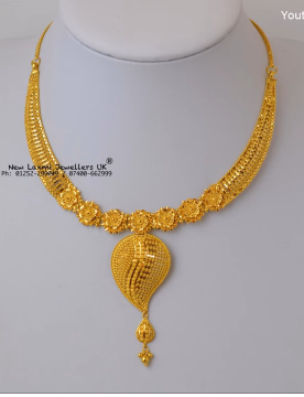 Light Weight Gold Necklace for Women Under 10 Grams3
