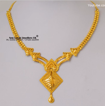Light Weight Gold Necklace for Women Under 10 Grams4