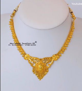 Light Weight Gold Necklace for Women Under 10 Grams5