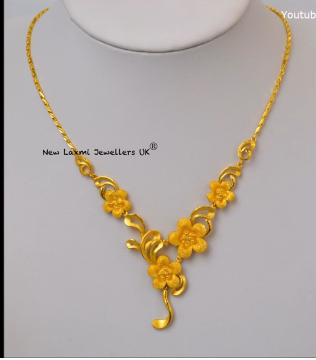 Light Weight Gold Necklace for Women Under 10 Grams8