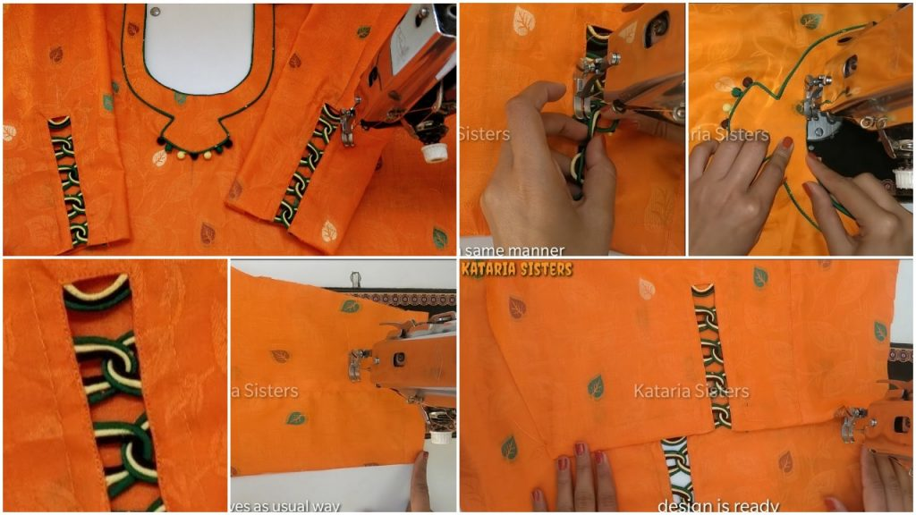 Beautiful Matching Neck and Sleeves Potli Design