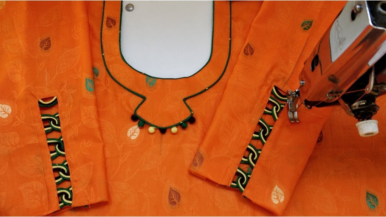 Matching Neck and Sleeves Potli Design1