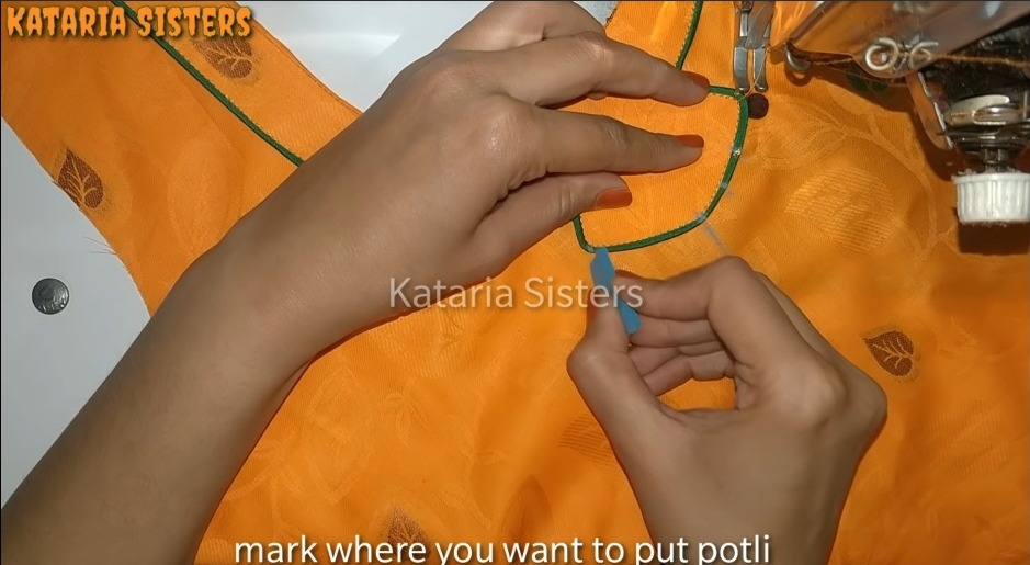 Matching Neck and Sleeves Potli Design20