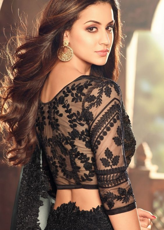 Blouse designs with lace embroidery1