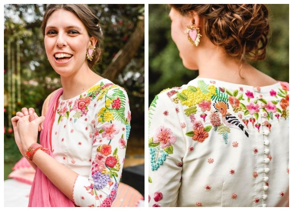 Latest blouse designs with thread work embroidery1