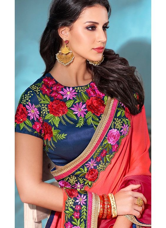 Latest blouse designs with thread work embroidery2
