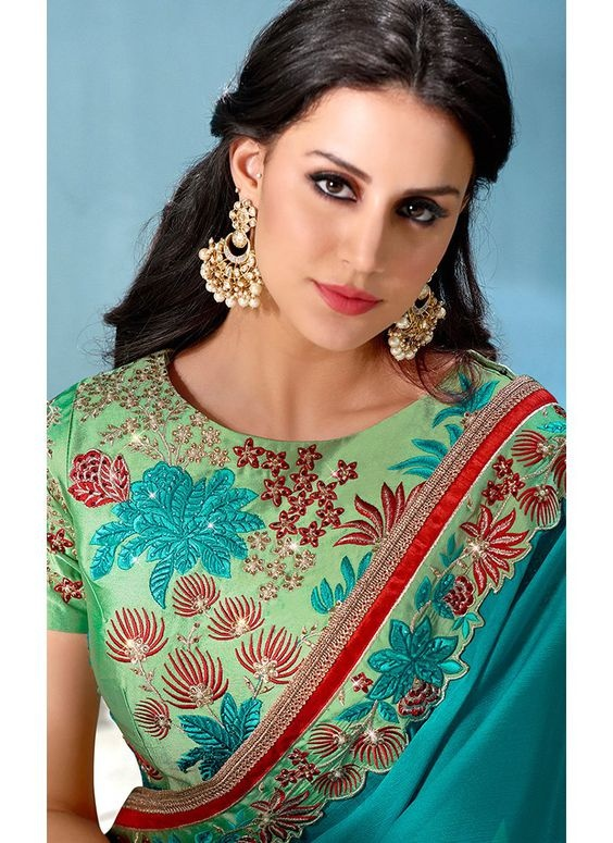 Latest blouse designs with thread work embroidery3
