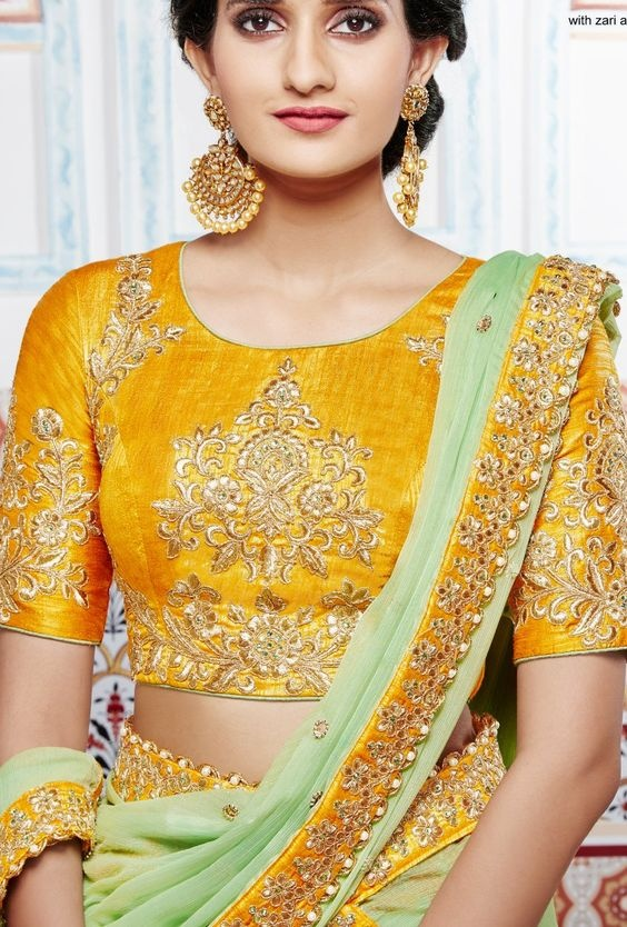 Latest blouse designs with thread work embroidery4