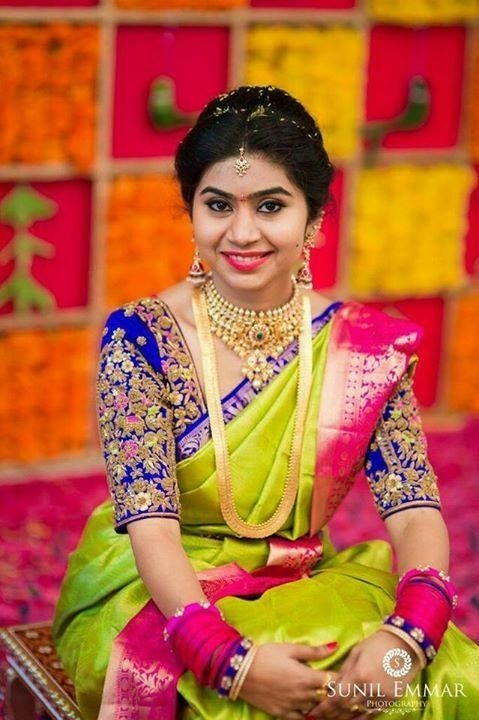 Maggam blouse embroidery designs for pattu sarees3