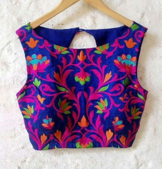 Blouse designs with brasso embroidery3