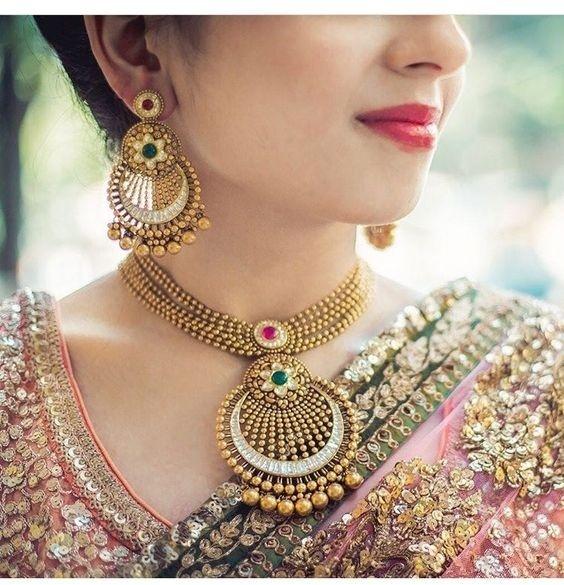 Bridal Gold Necklace Designs2