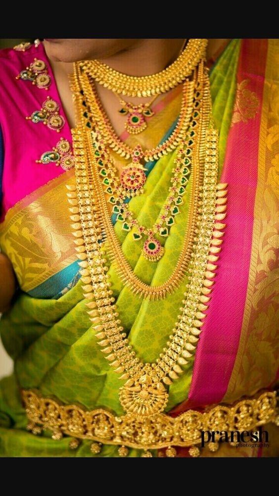 Bridal Gold Necklace Designs21