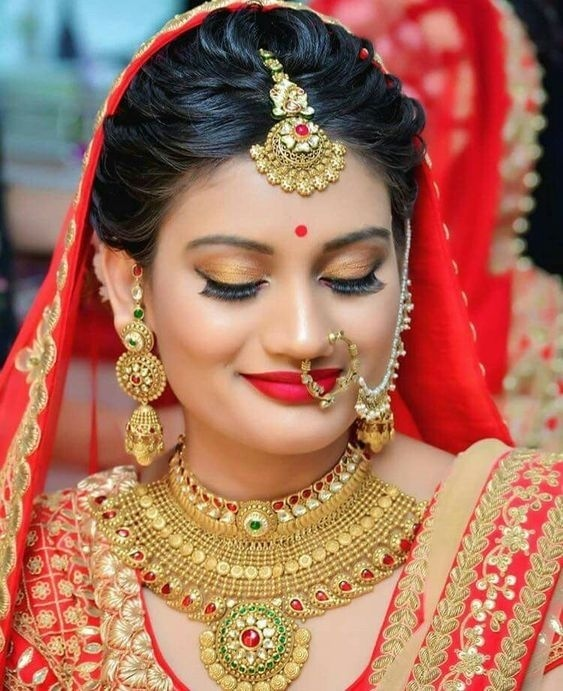 Bridal Gold Necklace Designs23