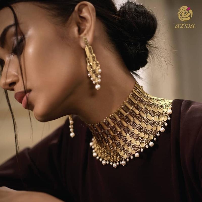 Bridal Gold Necklace Designs24