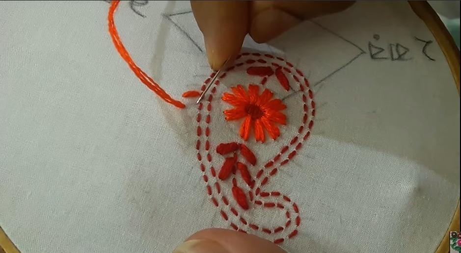 Hand Embroidery Phulkari Work Design for Kurti14