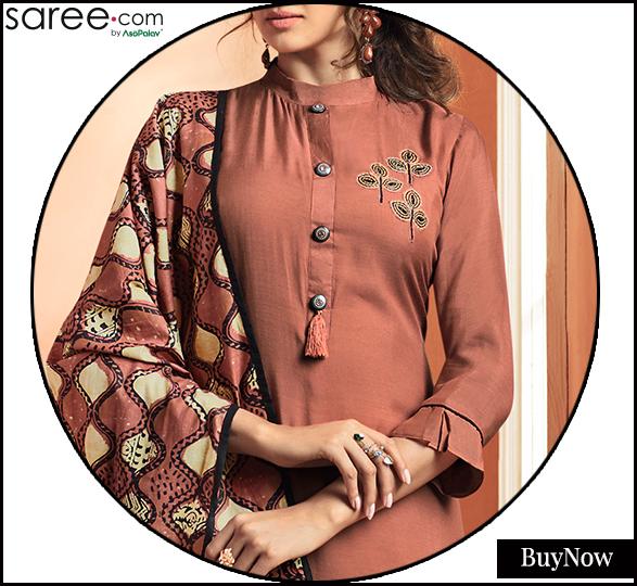 Embroidered high neckline