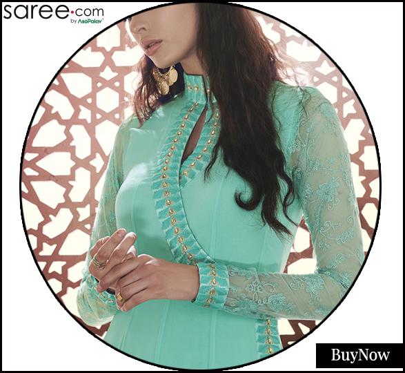 Angarakha neckline design
