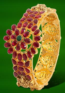 Bangle Studded With Rubies
