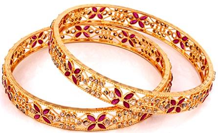 Trendy Ornate Bride Gold Bangles