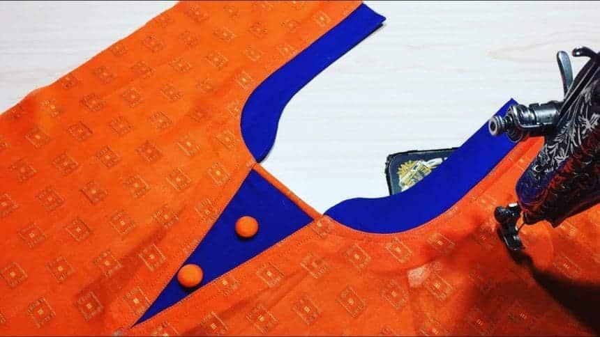 Kurtha Front Neck Design Cutting and Stitching 1